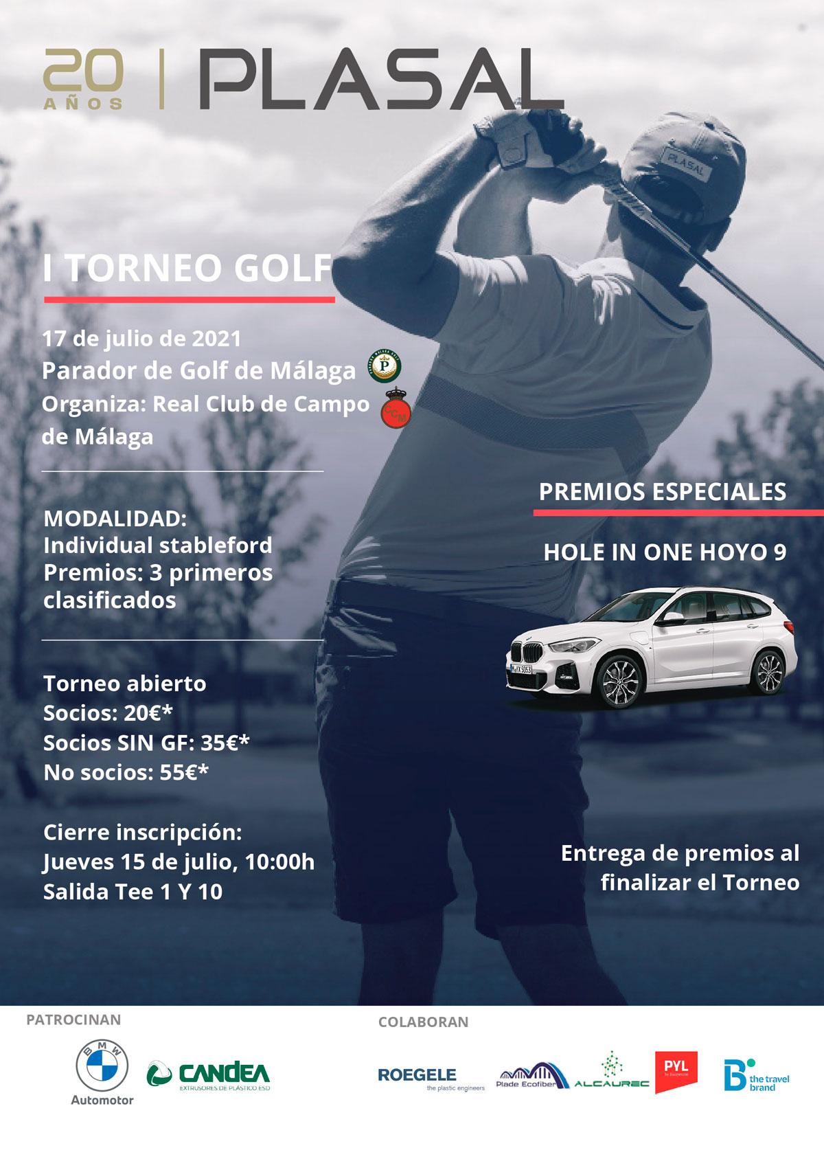 Celebramos el I Trofeo Golf Plasal con motivo de nuestro XX aniversario